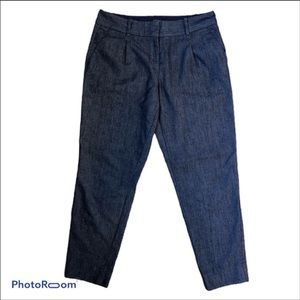The Limited chambray denim ankle pants size 4